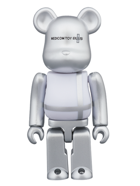 MEDICOM TOY PLUS限定 MEDICOM TOY PLUS SILVER Ver.BE@RBRICK ベアブリック 100%