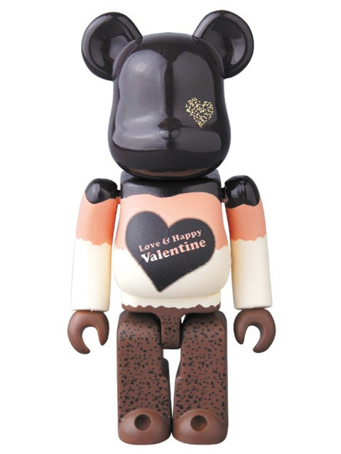 2017 Valentine Mousse Chocolat Ver. BE@RBRICK ベアブリック 100%