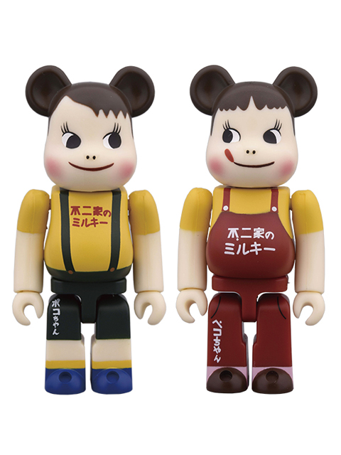 ペコちゃん&ポコちゃん ビンテージ版 BE@RBRICK ベアブリック 100% 2体set