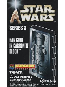 KUBRICK STAR WARS SERIES3 HAN SOLO IN CARBONITE BLOCK