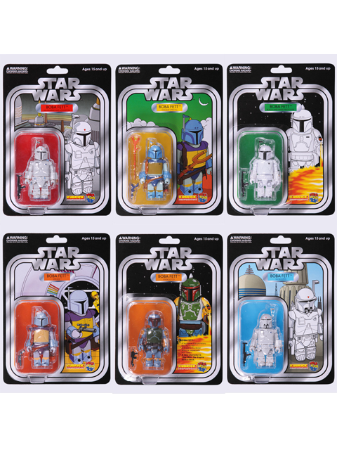 EXHIBITION 2009限定 STAR WARS KUBRICK SET OF 6pcs. BOBA FETT COLLECTION