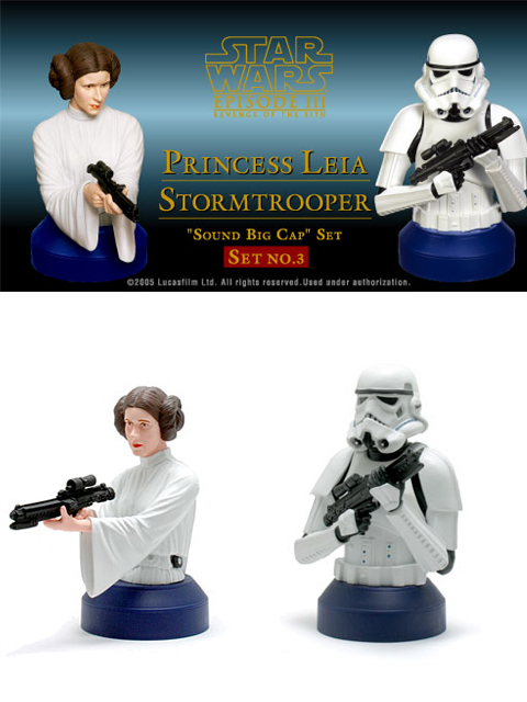 PEPSI STAR WARS サウンドビッグキャップ PRINCESS LEIA&STORMTROOPER