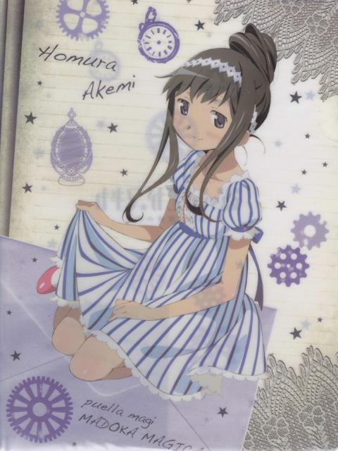 ローソン限定 魔法少女まどか☆マギカ 暁美ほむらVer. クリアファイル