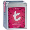 【訳有】【送料無料】ディルマ ≪t-シリーズ≫ローズ・フレンチバニラ リーフティー M缶100g:賞味期限2020年10月15日