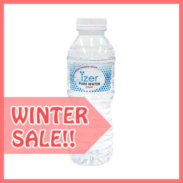 【冬割】アイザーピュアウォーター丸ボトル250ml (24本)