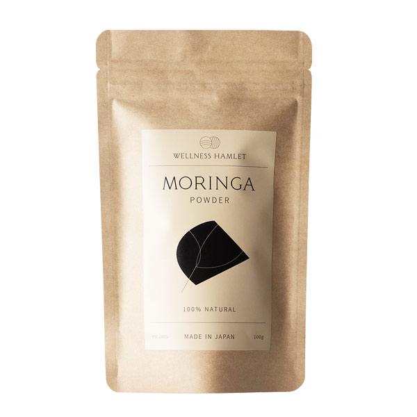 【超スーパーフードモリンガ葉100%微粉末/ミネラル・ビタミン+美肌・美髪の『アミノ酸』破格!/水・牛乳・豆乳・野菜ジュースに混ぜて飲む。サラダ・パスタ・カレーにかけて食べる】モリンガパウダー100g [商品番号:ke3060]