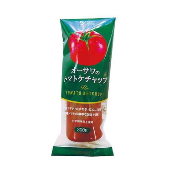 【無添加ケチャップ/甘さを抑えた濃厚なトマトの味】オーサワのトマトケチャップ300g  [商品番号:ke3173]