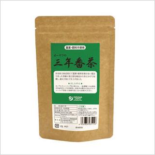 【奈良産の自然栽培茶葉100%の3年番茶/配合割合は茎50%、葉50%】オーサワの三年番茶(ティーバッグ)20g(2g×10包) [商品番号:ke3861]