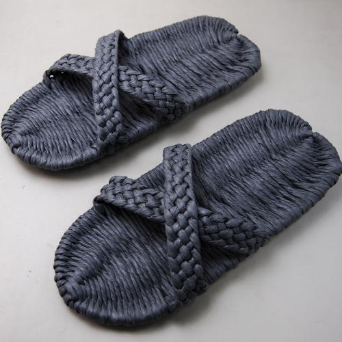 和紙の糸商品 イシカワ 和紙サンダル平織グレイ 約24.5cm 耐水性 完成品S-3000G(180059)