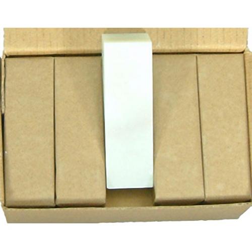 21604b 篆刻用石印材 白渓石 2270 2.2cm角 10本入