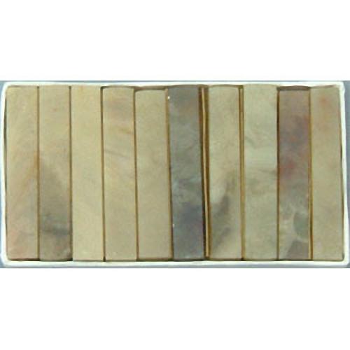 21607b 篆刻用石印材 巴林石 P-850 0.8cm角 10本入り