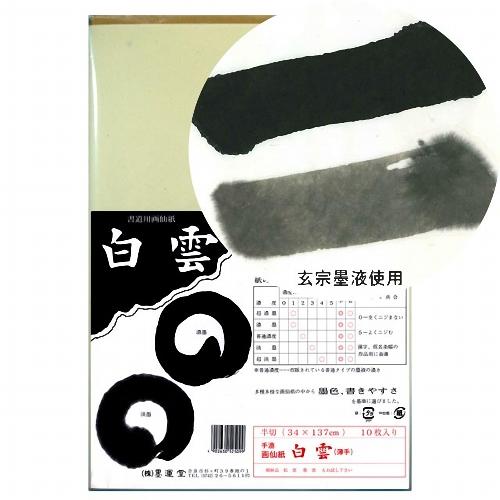 24307 画仙紙 白雲 半切10枚
