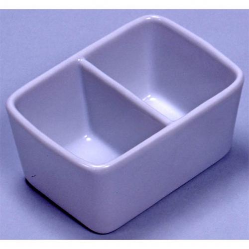 26504 陶器 角筆洗 2穴 12.0cm