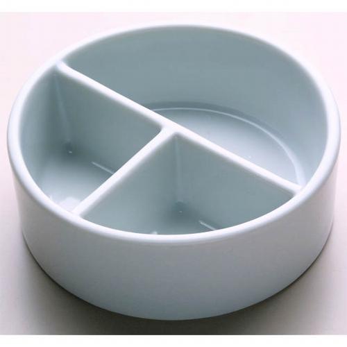 26506 陶器 丸筆洗 3穴 12.0cm