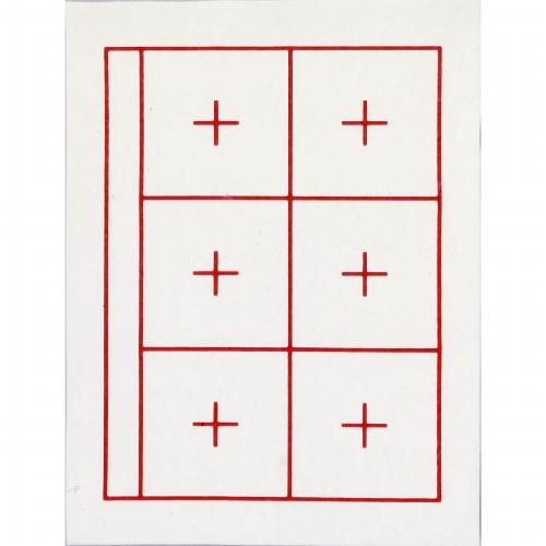 27159 下敷1mm 白 赤線引 規格