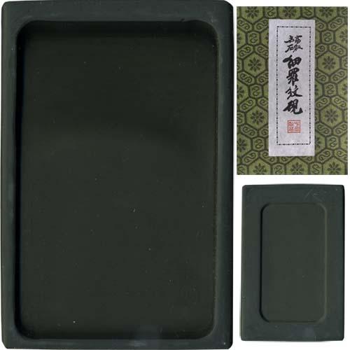 600402 中国硯 細羅紋硯 長方型 6吋 550006