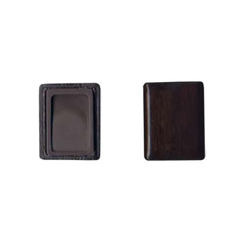 600421 中国硯 宋坑淌池硯 3吋 木製箱入 550301