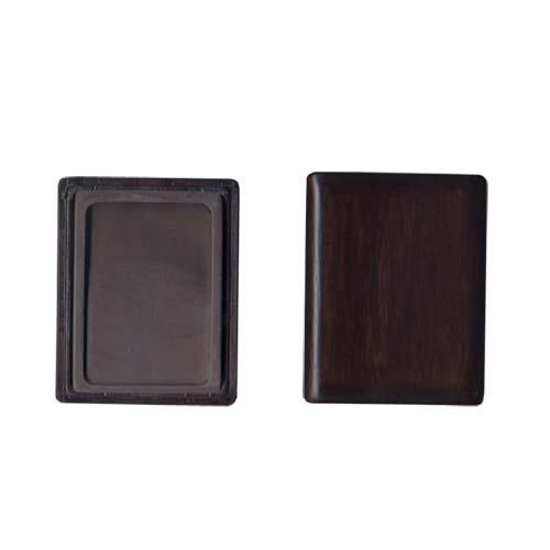 600422 中国硯 宋坑淌池硯 4吋 木製箱入 550302