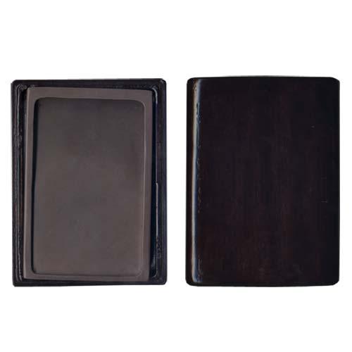 600424 中国硯 宋坑淌池硯 6吋 木製箱入 550304