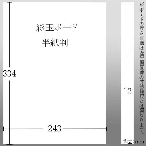 603613 彩玉ボード 半紙判厚さ12ミリ 243*334*12mm