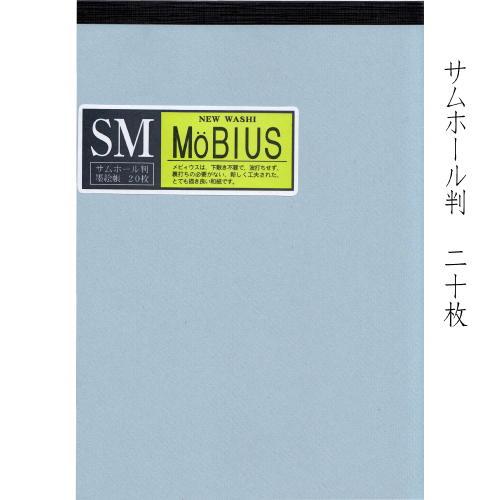 603928 NEW WASHI メビウス墨絵帳サムホール判 ノート仕立20枚【メール便対応】