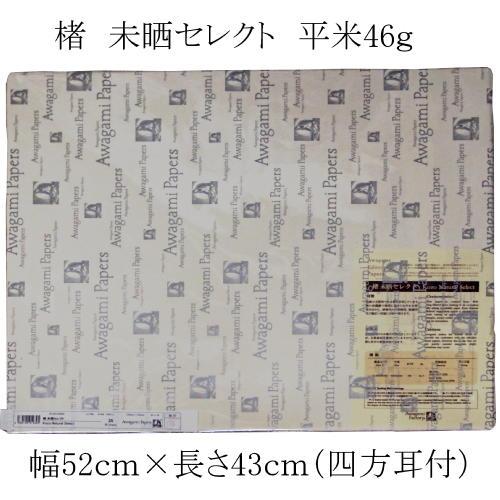 609409 エディショニングペーパー 楮 未晒セレクト 平米46g 幅52cm×長さ43cm(四方耳付) 25枚入り 9159330