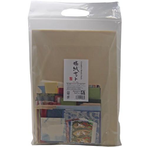 609547 端紙セット 大 種類、色、サイズ違いの和紙が約500g入り 8121112