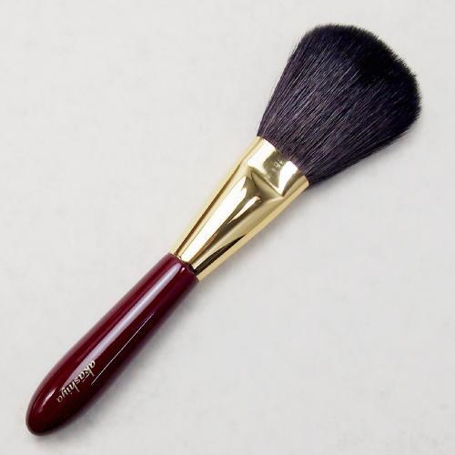 化粧筆 奈良筆あかしや ハイグレードタイプ臙脂 パウダーL H2-RG【メール便対応】 (610012)