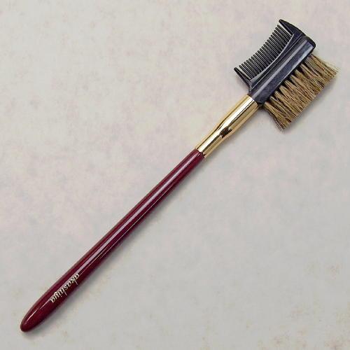 化粧筆 奈良筆あかしや ハイグレードタイプ臙脂 眉ブラシ&コーム H15-RG【メール便対応】 (610021)