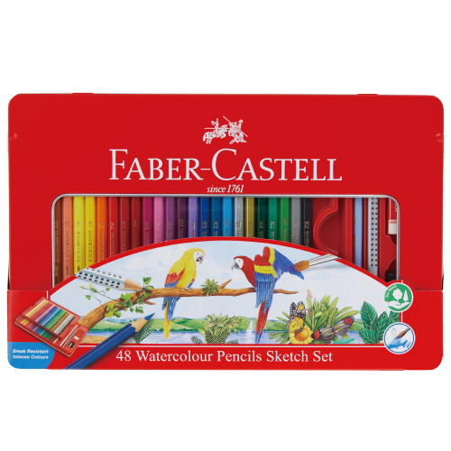水彩用品 ファーバーカステル 水彩色鉛筆48色セットTFC-WCP/48C【メール便対応】(610395)