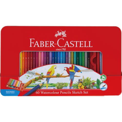 水彩用品 ファーバーカステル 水彩色鉛筆60色セットTFC-WCP/60C(610396)