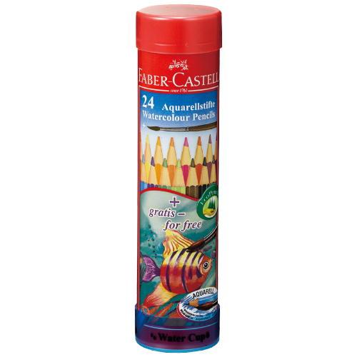 水彩用品 ファーバーカステル 水彩色鉛筆丸缶24色セットTFC-115924(610398)