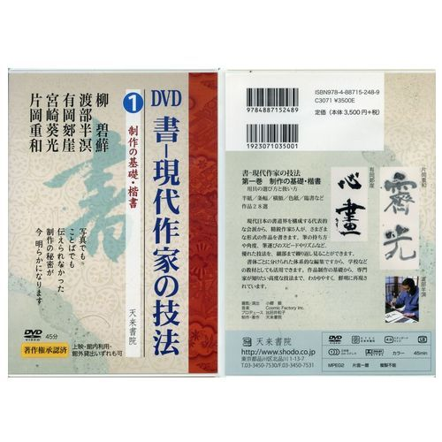800231 DVD 書―現代作家の技法 1 製作の基礎・楷書  天来書院