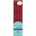 30155  墨運堂 建築用鉛筆 硬質 赤 6本入