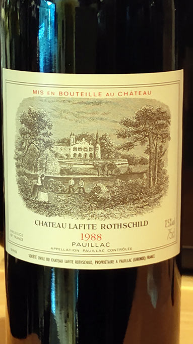 シャトー・ラフィット・ロートシルト1988年4/ボルドー赤ワイン/酒の瀧澤