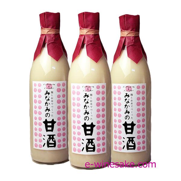 みなかみの甘酒3本セット/専用化粧箱入/酒の瀧澤/群馬県