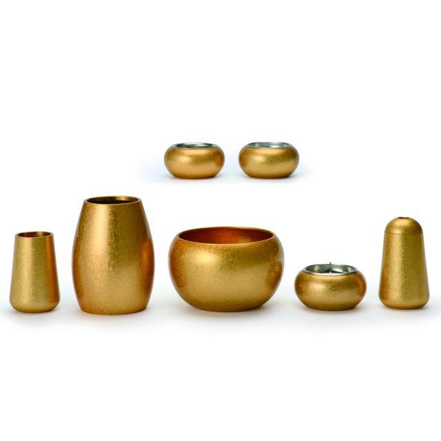 まどろみ 金バレル 仏具セット 7具足 真鍮製 おしゃれ ミニ モダン 小 日本製