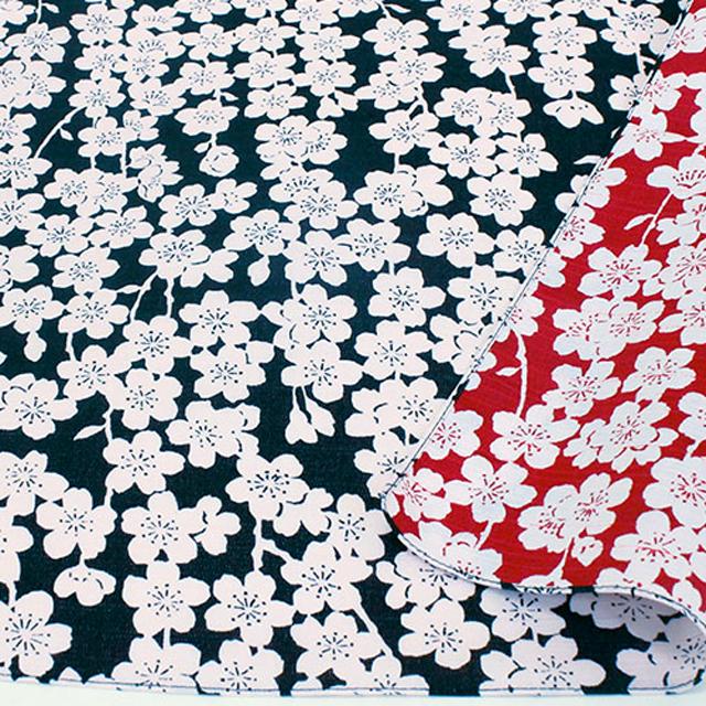 風呂敷 綿小風呂敷 両面 約48cm 伊砂文様 しだれ桜 Furoshiki