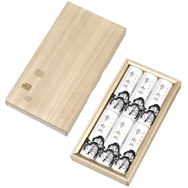 香樹林,短寸,6,箱入,桐箱.玉初堂,進物,線香