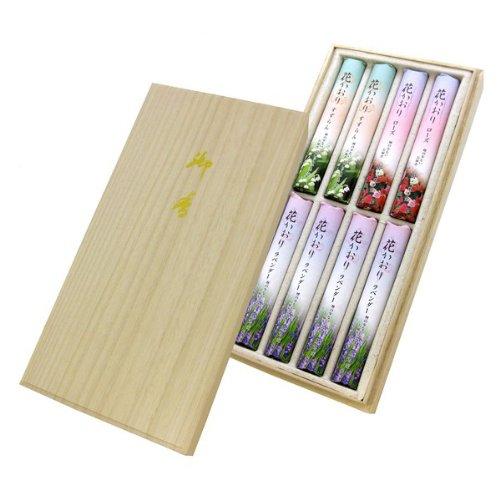 薫寿堂のお線香 花かおりアソート 桐箱 短寸8入 #634