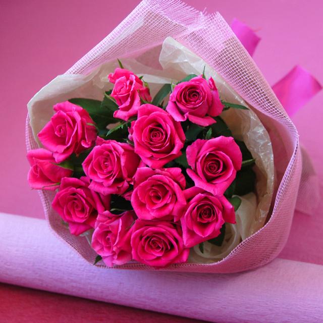 1ダースのバラの花束/dozen roses/ダズンローズ 【ピンク系】