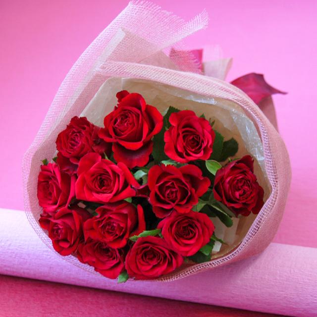 1ダースのバラの花束/dozen roses/ダズンローズ 【レッド系】
