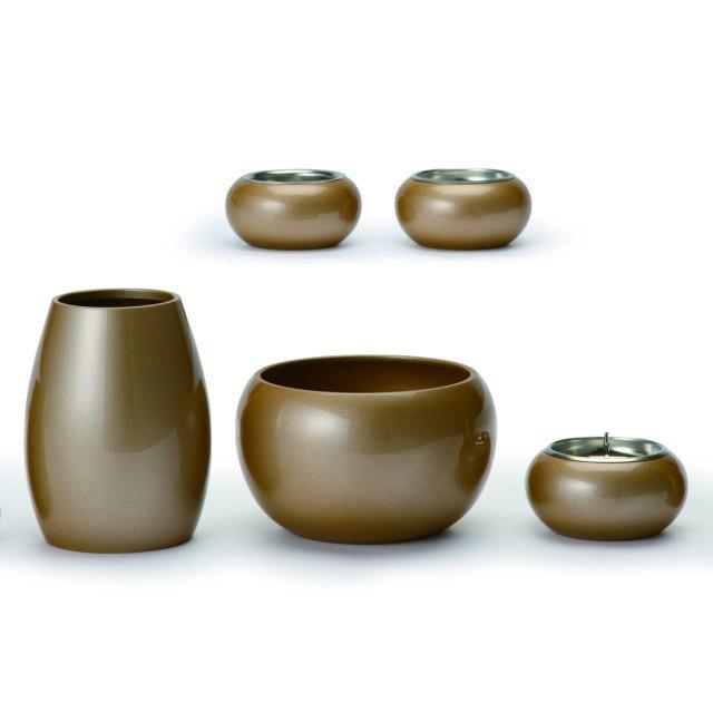 まどろみ 亜麻色 仏具セット 5具足 真鍮製 おしゃれ ミニ モダン 小 日本製
