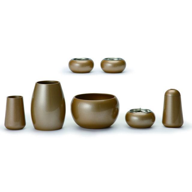 まどろみ 亜麻色 仏具セット 7具足 真鍮製 おしゃれ ミニ モダン 小 日本製