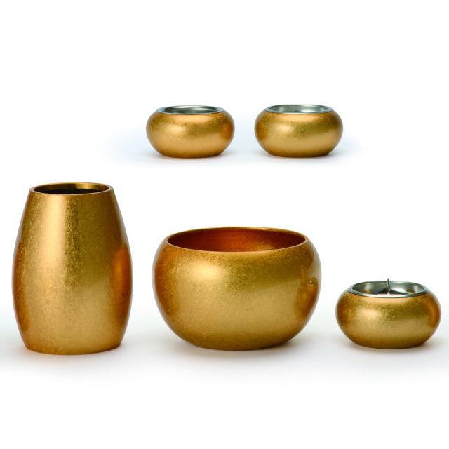 まどろみ 金バレル 仏具セット 5具足 真鍮製 おしゃれ ミニ モダン 小 日本製