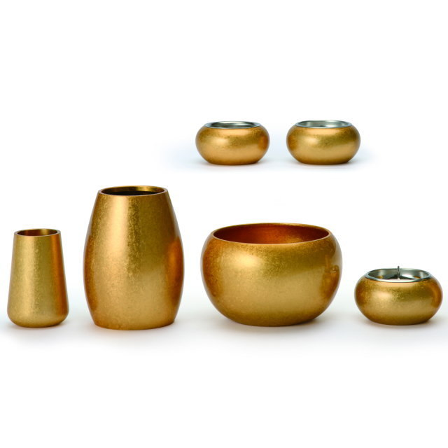 まどろみ 金バレル 仏具セット 6具足 真鍮製 おしゃれ ミニ モダン 小 日本製