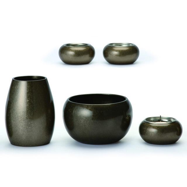まどろみ 銀バレル 仏具セット 5具足 真鍮製 おしゃれ ミニ モダン 小 日本製