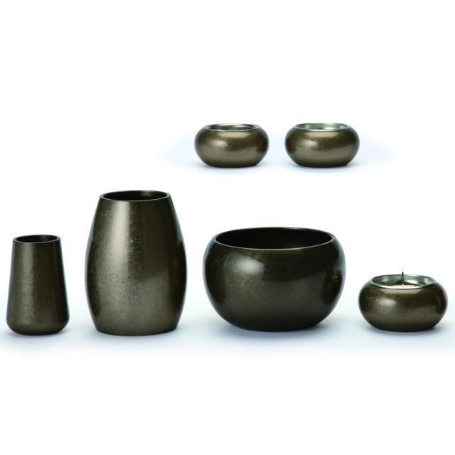まどろみ 銀バレル 仏具セット 6具足 真鍮製 おしゃれ ミニ モダン 小 日本製