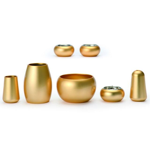 まどろみ ブラスト金 仏具セット 7具足 真鍮製 おしゃれ ミニ モダン 小 日本製