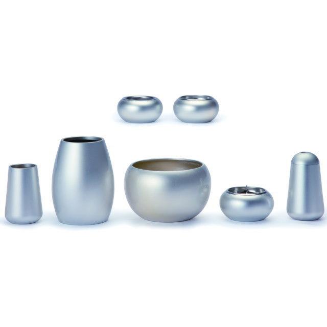 まどろみ ブラスト銀 仏具セット 6具足 真鍮製 おしゃれ ミニ モダン 小 日本製
